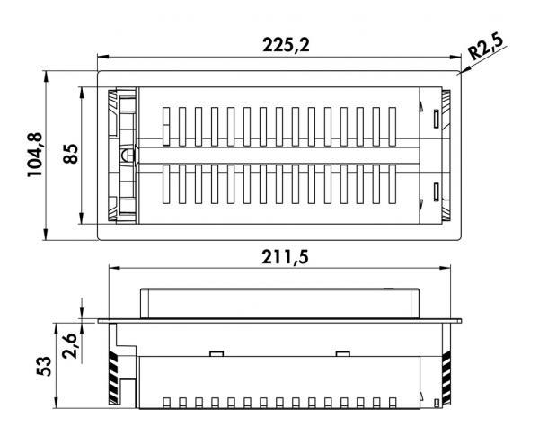 Steckdosenelement Evoline BackFlip-USB, Schwarz, 2-fach Steckdose ...